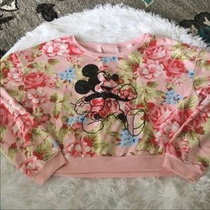 Disney's Mickey Mouse Crop Top Sweater